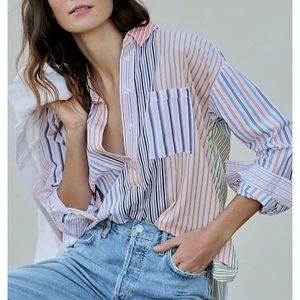 Anthropologie Maeve Alix Henley Blouse X-Small